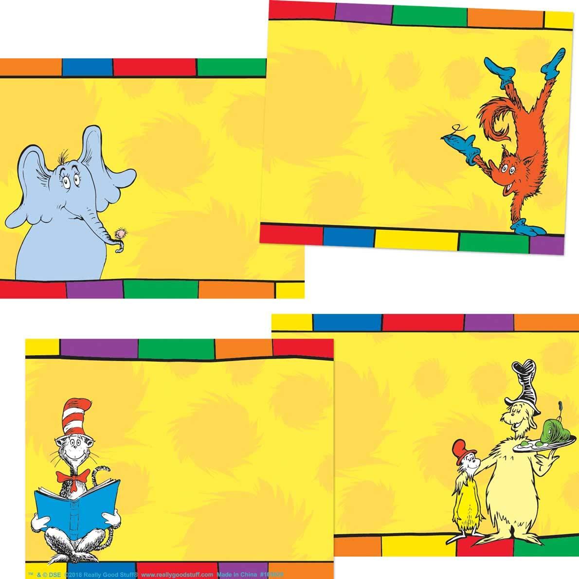 Really Good Stuff Dr Seuss Characters Name Tags