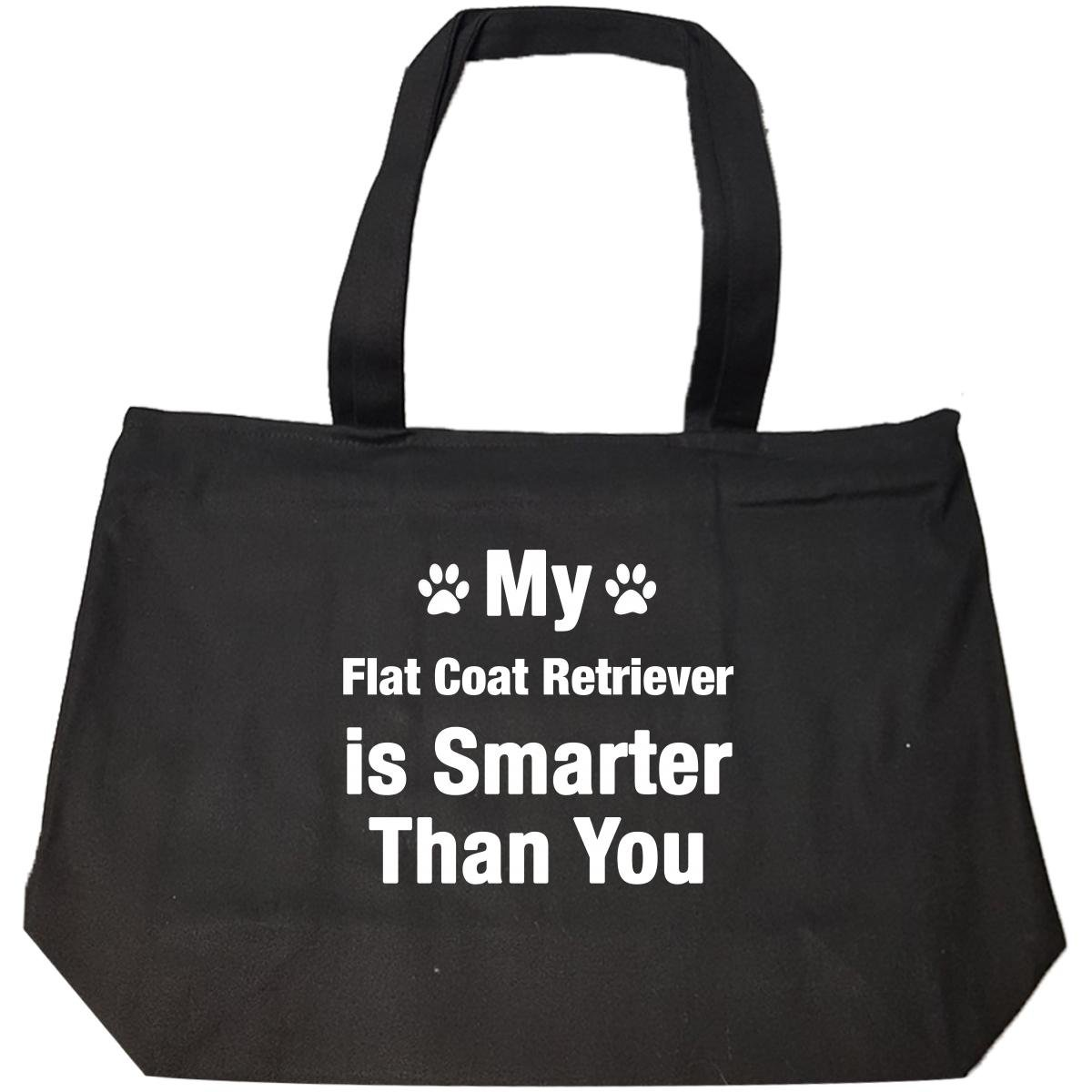 My Flat Coat Retriever Is Smarter Than You Funny Dog Gift - Tote Bag With Zip