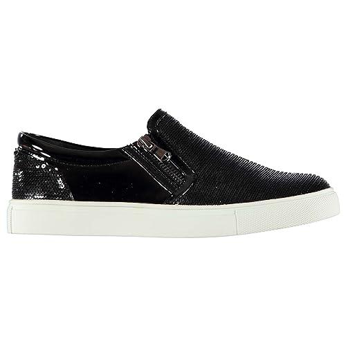 60f1ee945c5 Steve Madden Mujer Paddock Zapatillas Zapatos Calzado Casual Ponerse Negro  38  Amazon.es  Zapatos y complementos
