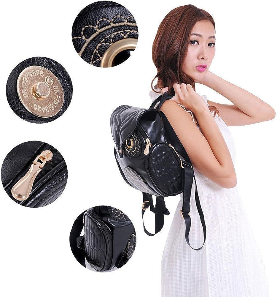 Dinglong Mode mignon chouette sac /à dos femmes Cartoon /école sacs pour les adolescents filles