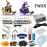 Complete Tattoo Kit 2 machine Gun 15 Color Inks Power Supply