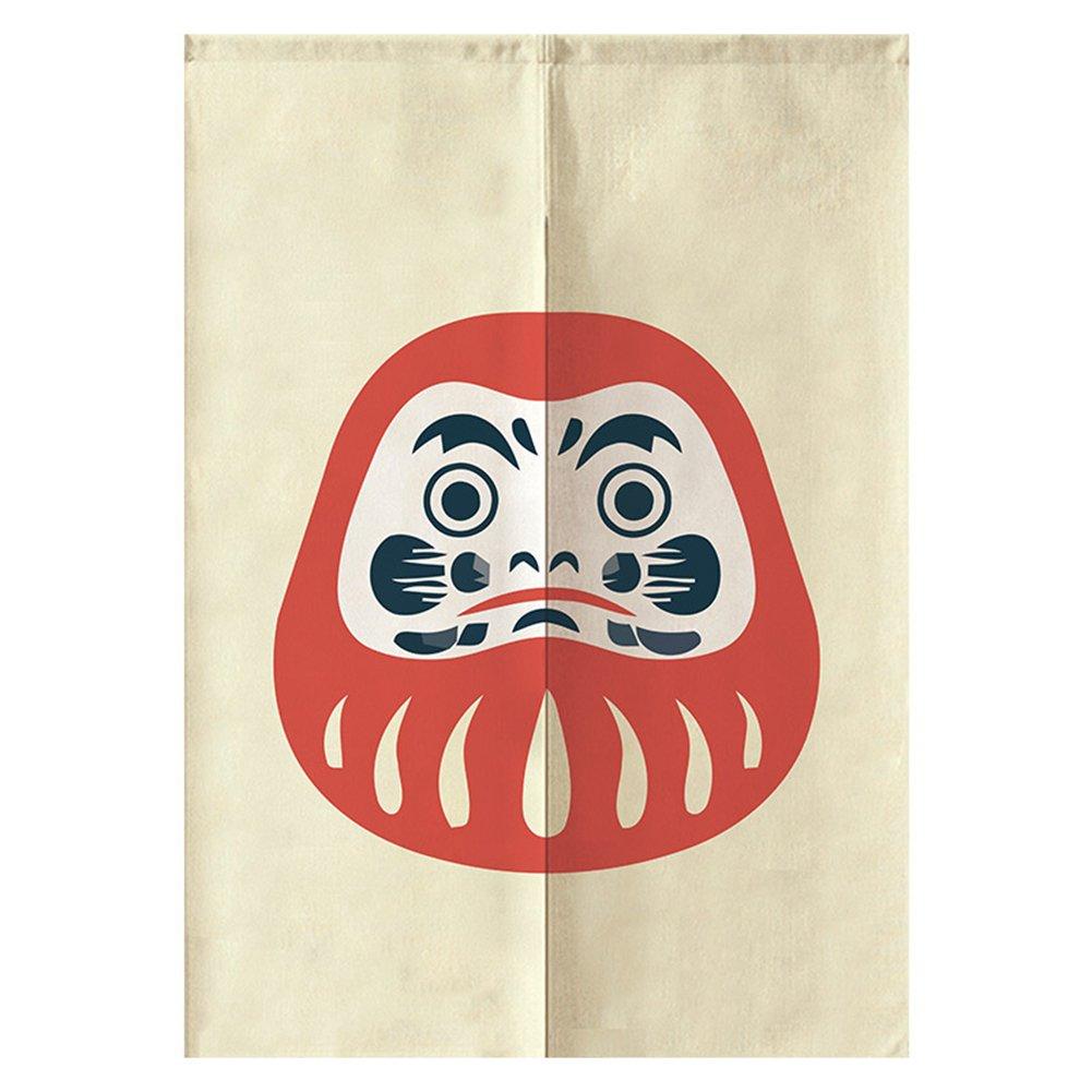 Motif 1 26 * 47in Ikonen Noren Rideau de porte traditionnel style rustique de style japonais Roly-Poly Chambre /à coucher de bain