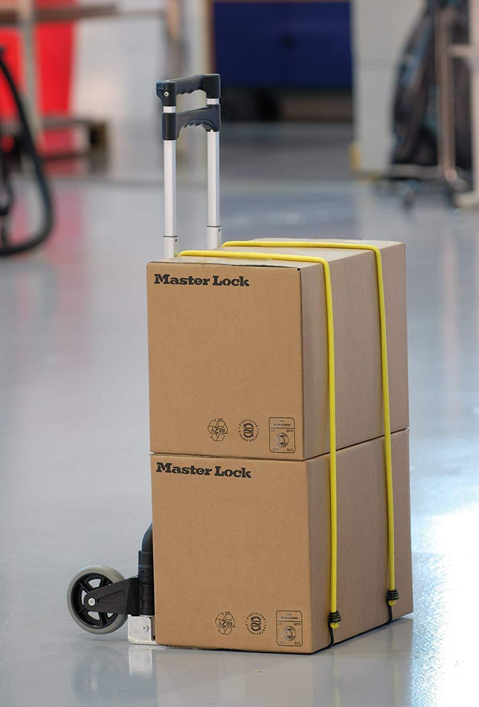 10er Set elastische Spannseile mit umgekehrten Haken Gr/ün//Rot//Gelb mit Aufbewahrungsgestell
