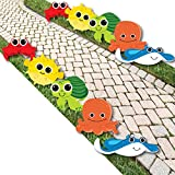 Under The Sea Critters - Octopus, Stingray, Pufferfish, Sea Turtle and Crab Lawn Decorations - Outdoor Birthday Party or Baby Shower Yard Decorations - 10 Piece