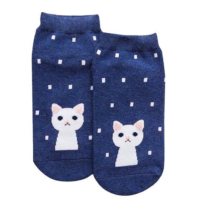 LHWY Un par de calcetines de lunares impresos para gato calcetines femeninos: Amazon.es: Ropa y accesorios