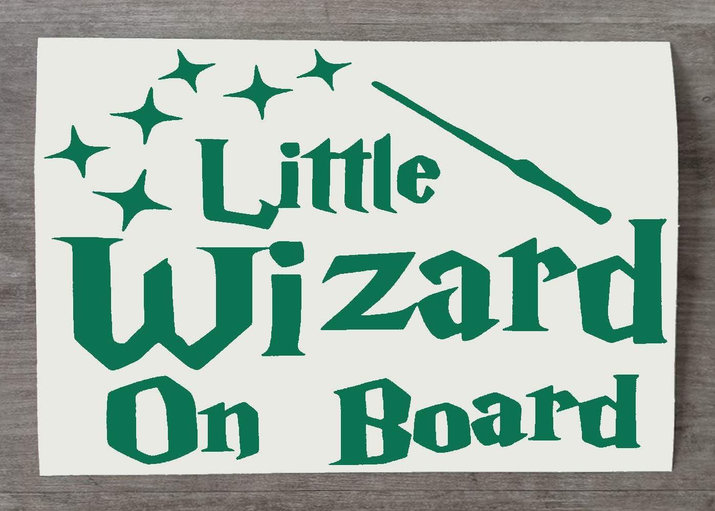Little Wizard on Board Car Sticker HSS693 Fun Harry Potter Inspired Baby On Board Vinyl Decal for Bumper Window Red