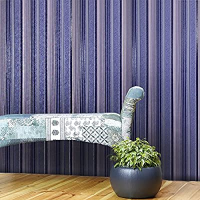 Slavyanski vinyl wallpaper navy blue violet modern wallcovering textured stripes lines pattern patterned coverings textured old vintage retro style double rolls wall paper decor textures 3D washable