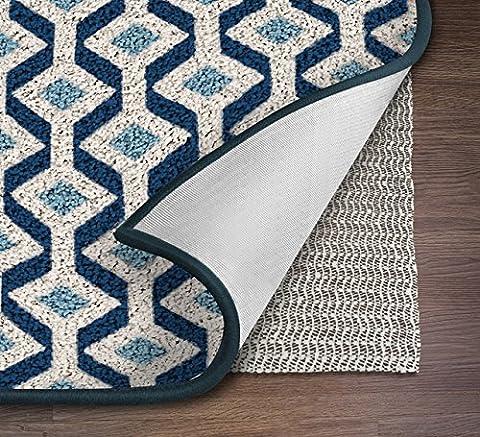 NINJA BRAND Non-Slip Area Rug Pad for Hard Floors, #1 Grip, Maximum Protection (5' x 8') (Carpet 8x5)