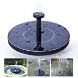 Solar Fountain for Bird Bath, Solar Powered Fountain Pump 1.5W Free Standing Floating Birdbath Water Pumps for Garden…