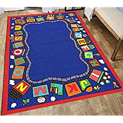 5x7 Kids Boys Children Toddler Playroom Rug Nursery Room Rug Bedroom Rug Fun Colorful (Train)