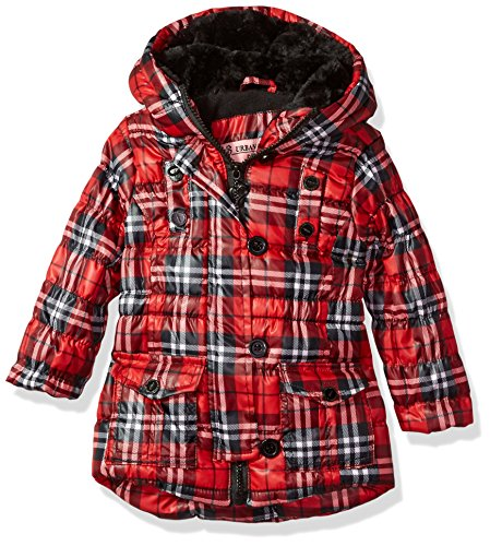 Ur Republic Plaid Red Jacket Polyfil Girls' Urban qzCxwZEq