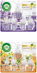Air Wick Plug in Scented Oil 5 Refills, Lavender & Chamomile and Hawaii, (5x0.67oz), Essential Oils, Air Freshener