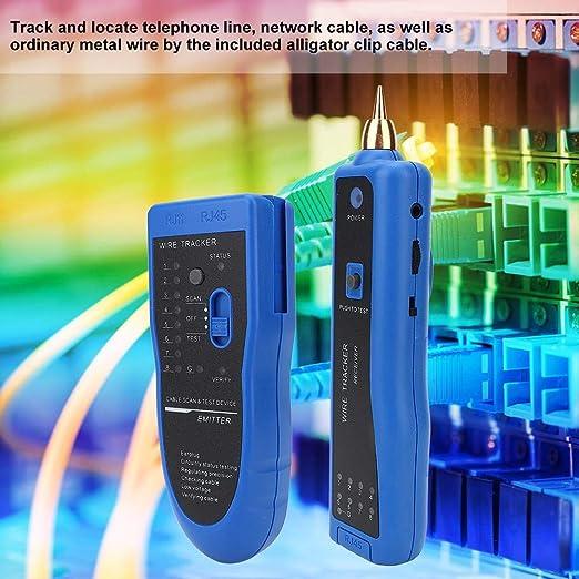 Testeur de circuit de traceur de fil testeur de c/âble de haute pr/écision 200EP Amplificateur inductif de g/én/érateur de tonalit/é avec testeur de c/âble de traceur de sonde de tonalit/é de communications