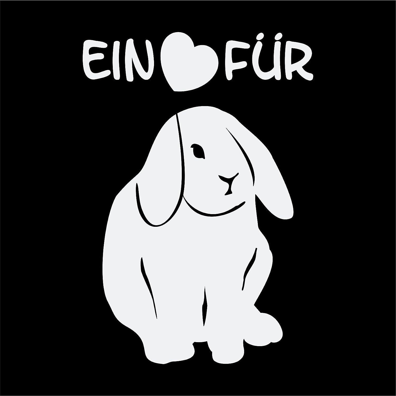 Folistick Ein Herz Für Kaninchen Aufkleber Tierschutz Laptop Aufkleber Autoaufkleber Weissmatt Auto