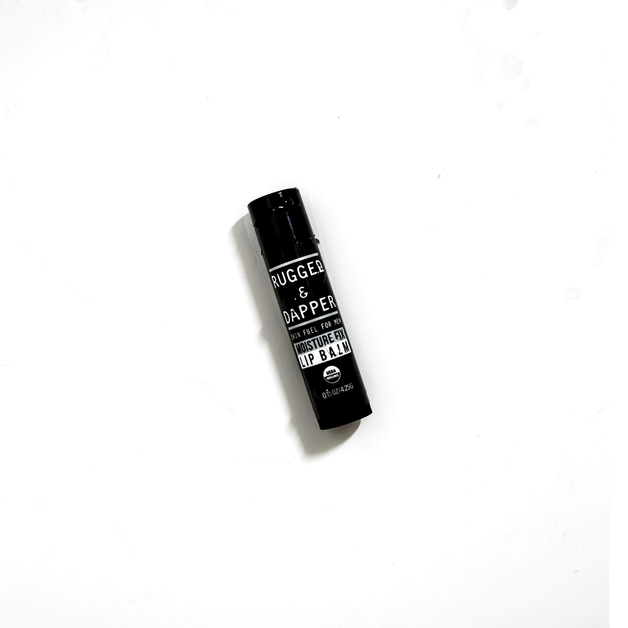 RUGGED & DAPPER Organic Lip Balm Set for Men, Eucalyptus and Mint, 4 Pack by RUGGED & DAPPER