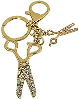Rhinestone Hairstylist Key Chain Scissors Cute Purse Charm