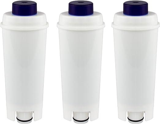 Juego de 3 filtros de agua compatibles con cafeteras DeLonghi DLS ...