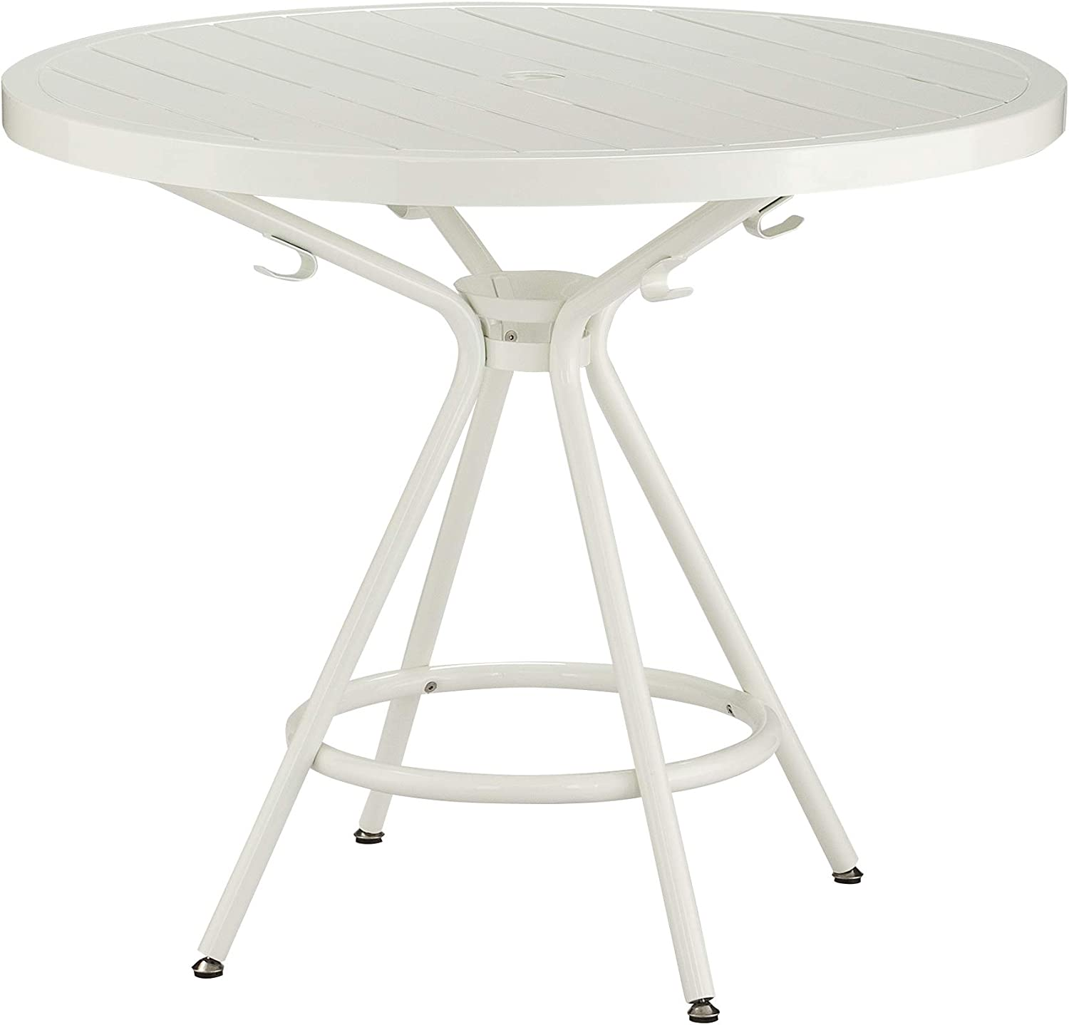 "Safco Products CoGo Steel Indoor/Outdoor Table, 36"" Round, White"
