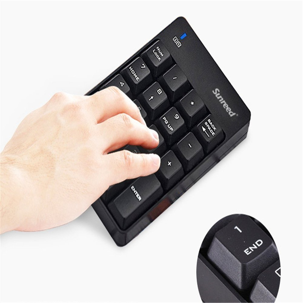 Numeric Keypad and Mouse Combo 2-in-1 Keyboard Set for Office Laptop Desktop PC Notebook No Device Drivers Needed 2.4G Wireless Mini Keyboard and Mouse With USB Receiver Enhanced Version