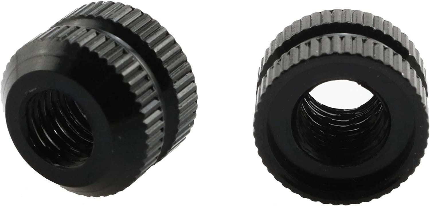 Black heyous 2pcs Vacuum Tire Law Valve Nut Bicycle Tire Inner Tube Cycling Tire Repair Maintain Bike Accessories