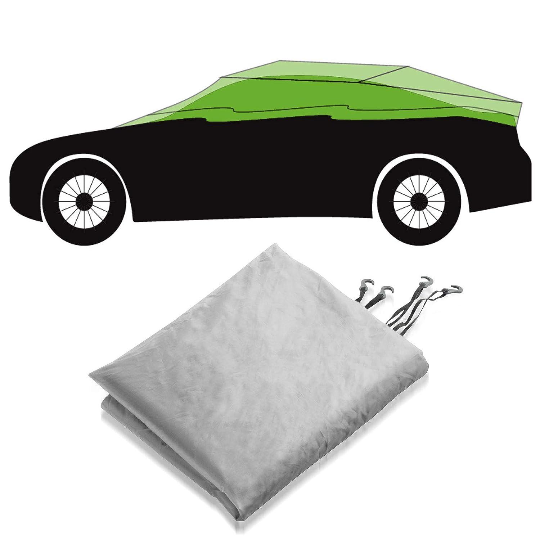 Silber passende Gr/ö/ße w/ählbar Gr/ö/ße M: 259x122x61cm casa pura Autoabdeckung Halbgarage f/ür Winter /& Sommer