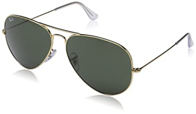 f6d056a98 Amazon.com: Ray-Ban RB3026 Aviator Large Metal II Sunglasses, Gold ...