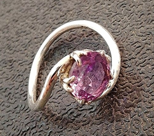 Amethyst Ring, 925 Sterling Silver Ring, February Birthstone, Purple Color Ring, Hammered Ring, Gift For Wife, Any Wear Ring, Hypoallergenic Ring, Beautiful Ring, Stacking Ring, Solitaire Ring - Baguette Purple Ring