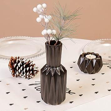 Ausgefallene Schwarz Origami Stil Vase Moderne, Zeitgenössische Keramik  Vase Ideal Für Blumen, Geschirr Oder