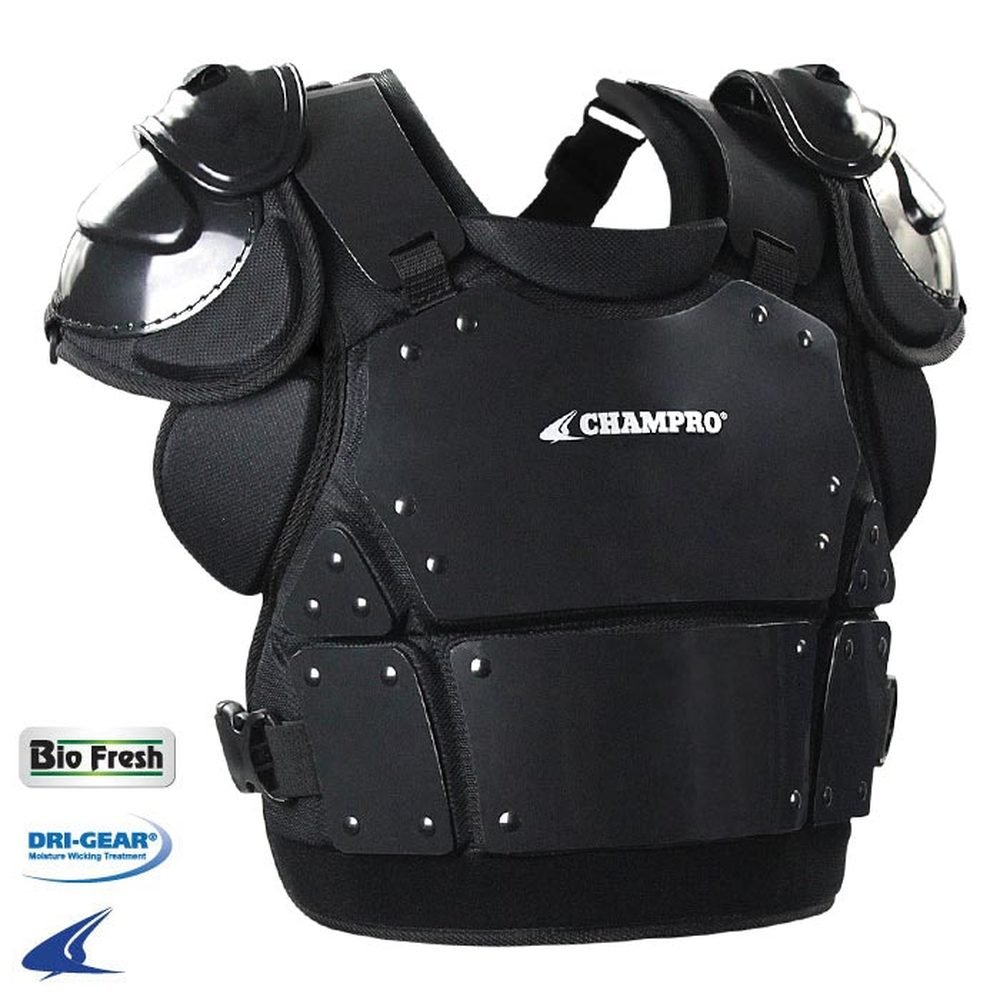 CHAMPRO Pro-Plus Plate Armor Chest Protector Black Adult M (13'' H) CP33-CP335-CP34 CP34 by CHAMPRO