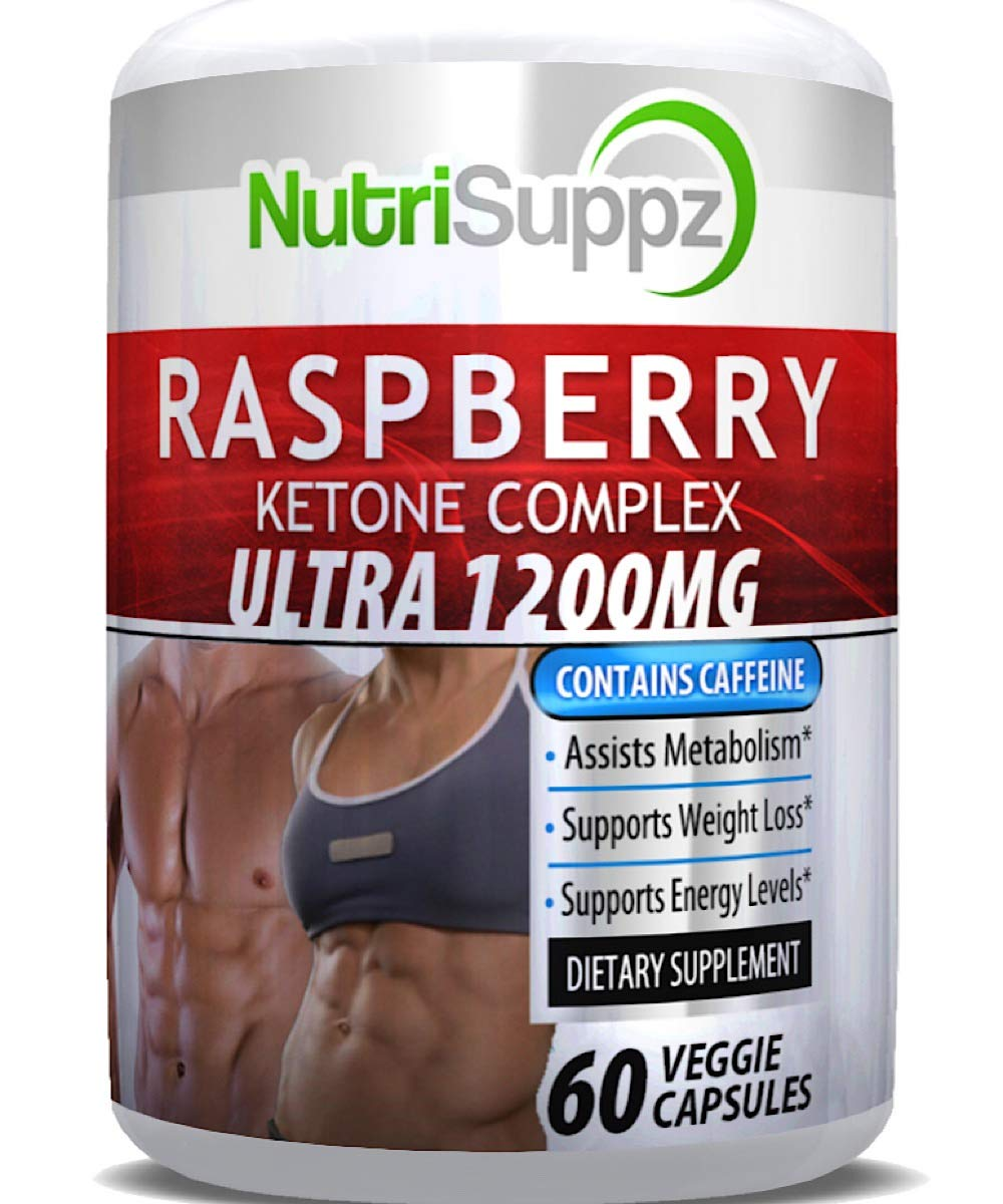 100% Pure Raspberry Ketone Complex Ultra 1200mg, Weight Loss Pills, Thermogenic Effect - Green Tea Extract, African Mango, Grape Seed Extract - 60 Veggie Capsules