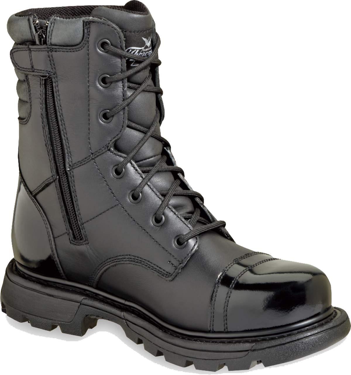 Thorogood Men's 8'' Side Zip Jump Boot Gen-flex,Black,10 M US
