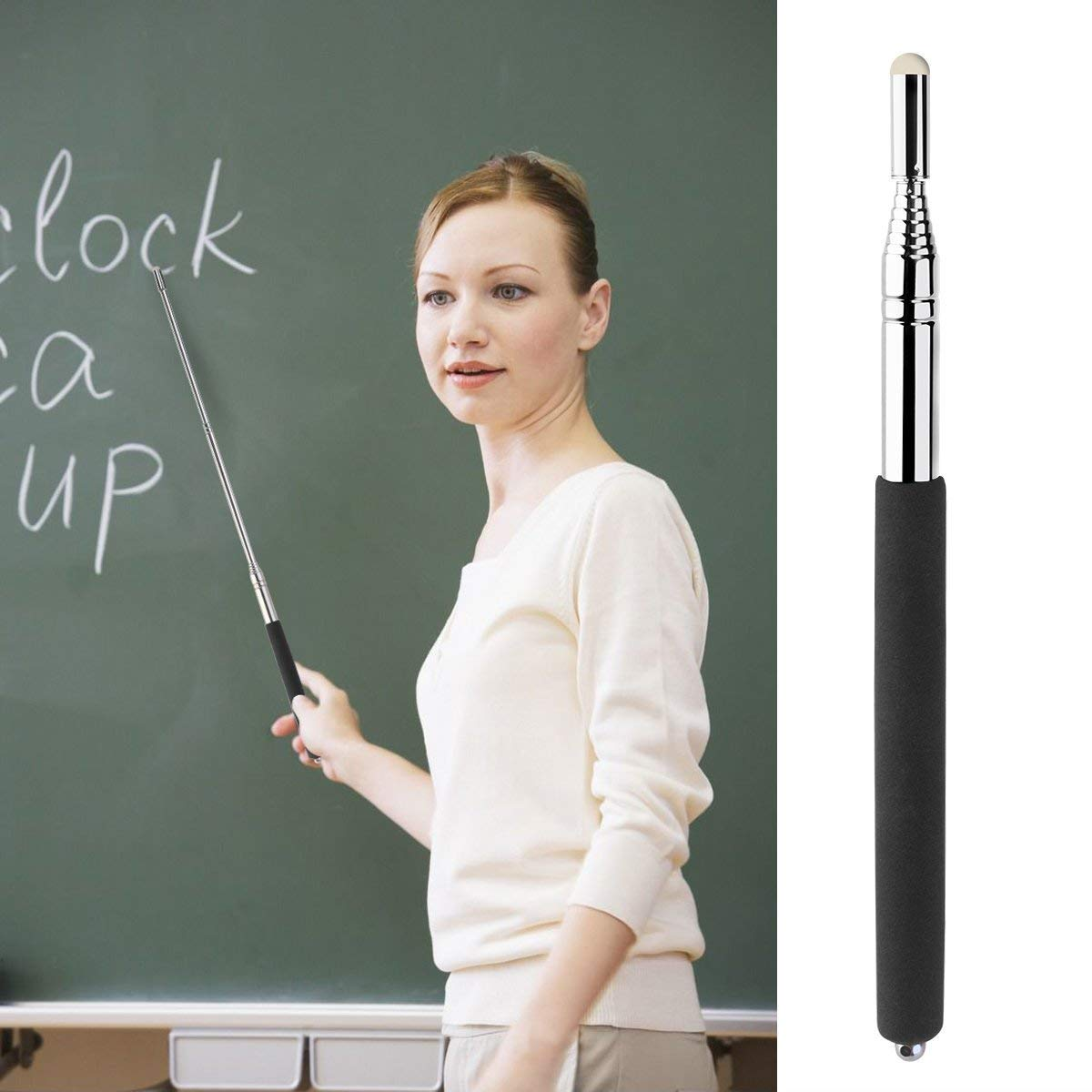 MODOLO Telescoping Pointers Retractable Handheld Presenter Extendable Classroom Whiteboard Pointer Extends to 39 Inch,Set of 3