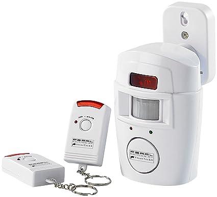 VisorTech – PE NC de 9056 Sensor de movimiento Alarma doméstica con detector de movimiento PIR