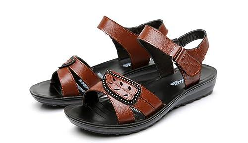 XZGC - Scarpe con fascia alla caviglia. Donna , marrone (marrone), 39