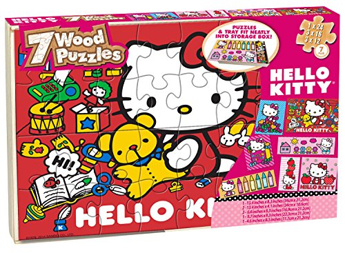 Hello Kitty Puzzles Wooden Storage