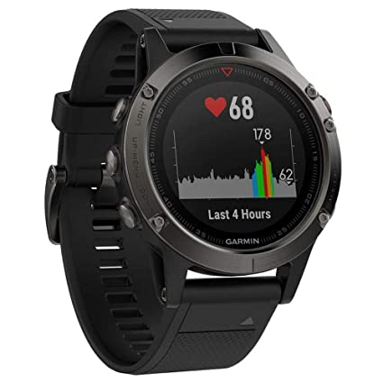 Garmin fēnix 5, Premium and Rugged Multisport GPS Smartwatch, Slate Gray