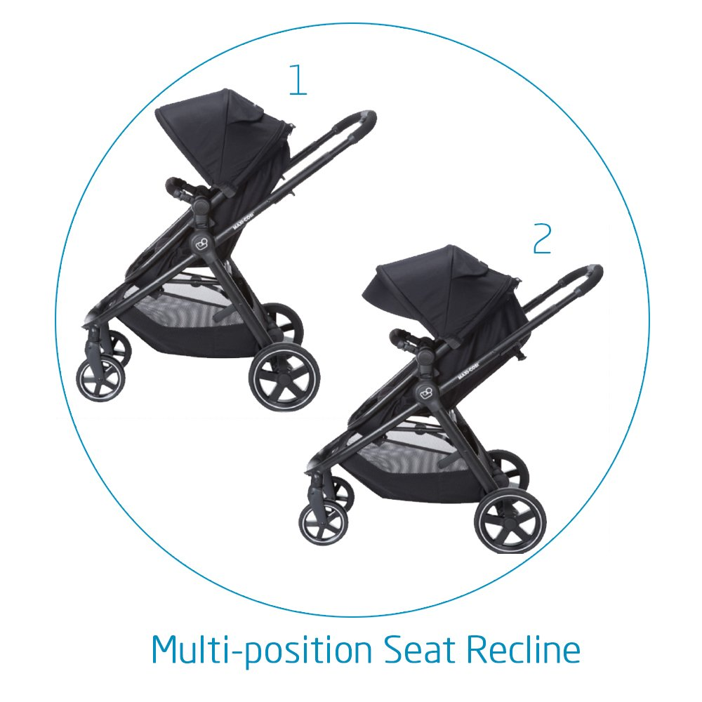 Maxi-Cosi Zelia 5-in-1 Modular Travel System Stroller and Mico 30 Infant Car Seat Set (Night Black) by Maxi-Cosi (Image #3)