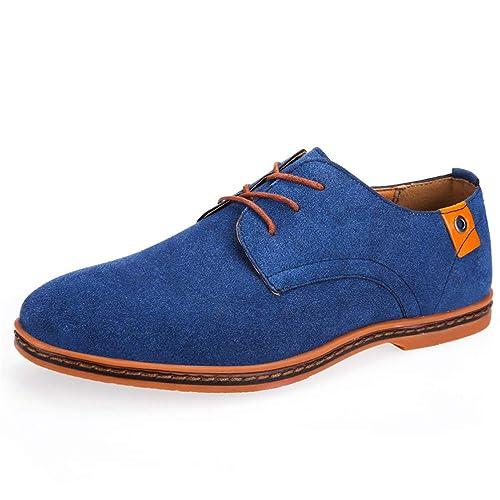 Zapatos Casuales de los Hombres Zapatillas cómodas Relajado Ronda Dedo del pie Coche Costuras Suela de Goma Antideslizante Zapatos: Amazon.es: Zapatos y ...