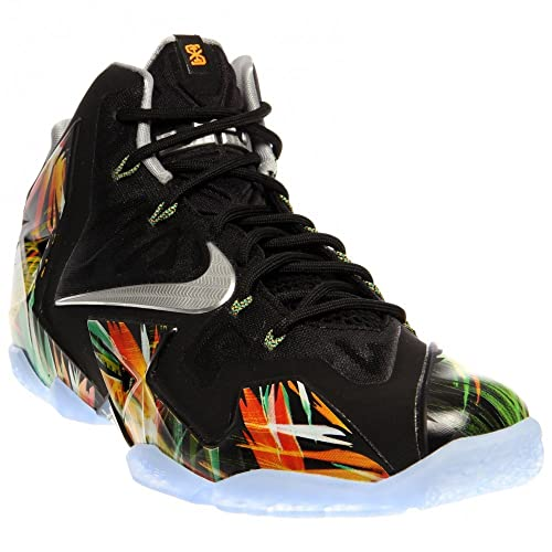 reputable site 32f19 3667e Nike Men s Lebron XI, BLACK MTLLC SILVER-WOLF GREY-ATMC MN,