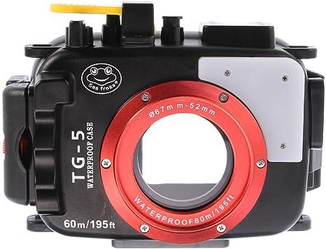 WeniChen - Carcasa impermeable para cámara de buceo submarina ...