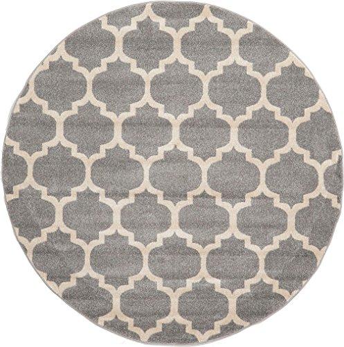Unique Loom Trellis Collection Moroccan Lattice Dark Gray Ro
