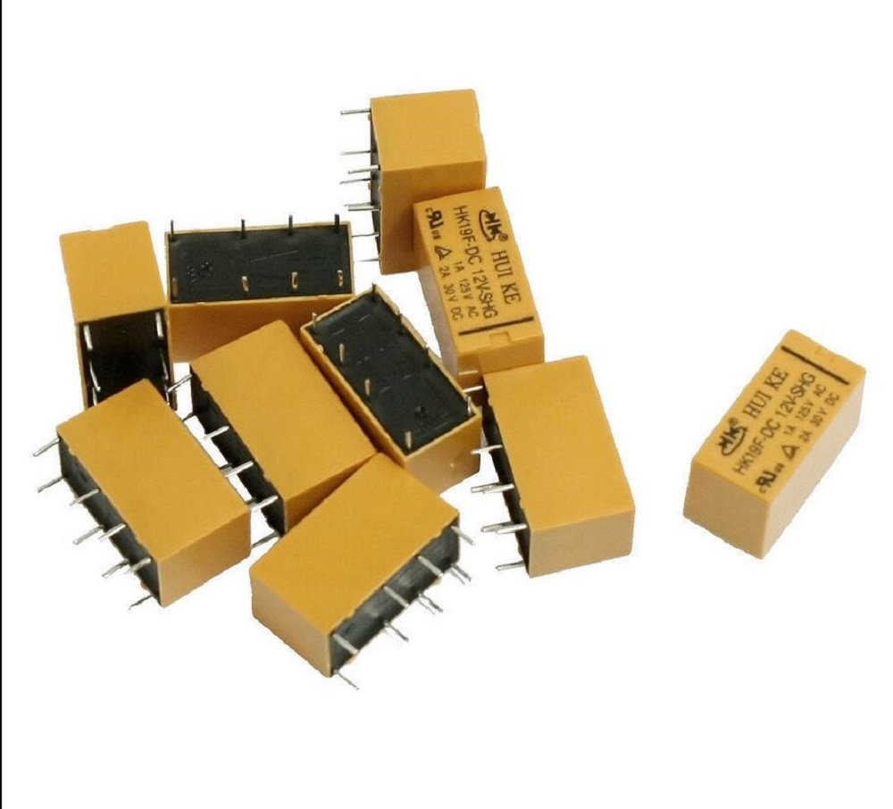 10 x DC 12V Coil DPDT 8 Pin 2NO 2NC Mini Power Relays PCB Type HK19F IND009