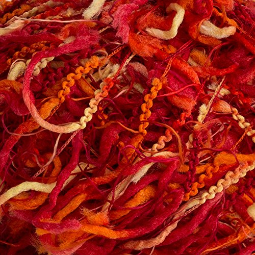 Crystal Palace - Squiggle Knitting Yarn - Firecracker (# (Crystal Nylon Yarn)