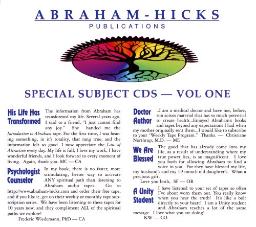 Abraham-Hicks Special Subjects Vol. 1 pdf