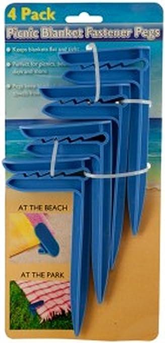 Toalla de playa Clips de anclaje manta azul: Amazon.es: Hogar