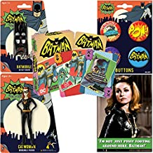PopShoppes Catwoman (Batman Classic TV Series) PopBox Deluxe Set (Bendable Figure, Playing Cards, Bendable Keychain, Magnet and Button Set) Cool Value!