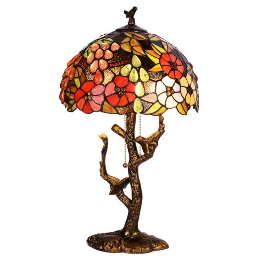 Tiffany European-Style Lamp Bedroom Living Room Table Lamp Bedside Lamp Romantic Night Light