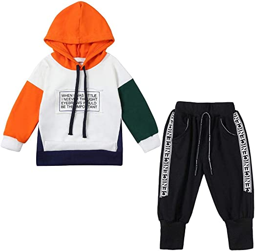 Toddler Infant Baby Boys/&Girl Letter Hooded Tops Pullover Sweater Kids Outfits