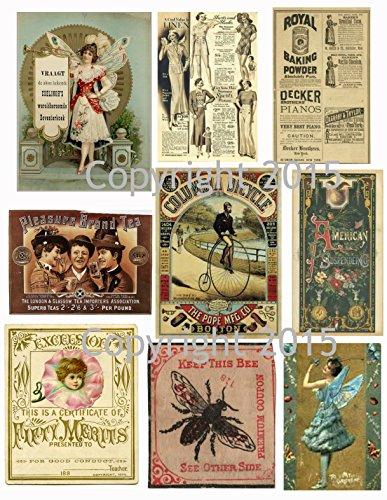 (Assorted Vintage Ephemera Vintage Label Images #1 on Collage Sheet for Photo Art, Scrapbooking, Collage, Decoupage)