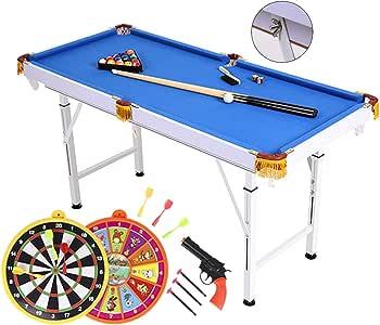 Mesa de billar Mini mesas de Billar Doméstica Americana Plegable De Elevación para Niños Juegos Geniales Juguetes para Niños Y Niñas Regalos De Cumpleaños: Amazon.es: Hogar